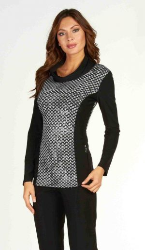 Frank Lyman 63241 Black & White Top