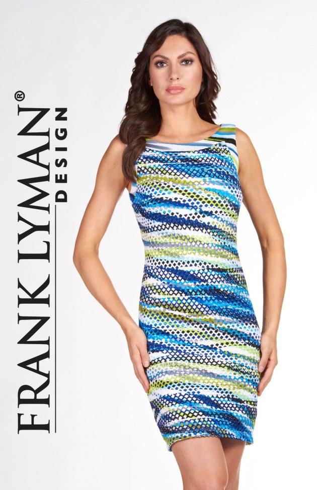 Frank Lyman 66298 Blues Open Weave Dress