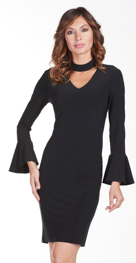 Frank Lyman 175021 Black Collar Dress
