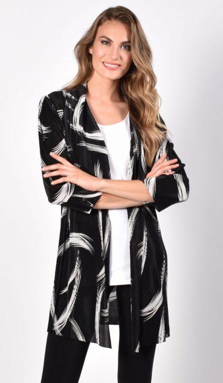 Frank Lyman 216513 Black & White Long Jacket