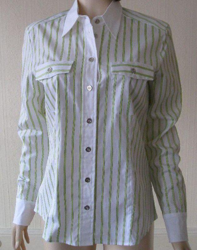 Basler 413114 White & Lilac Striped Blouse