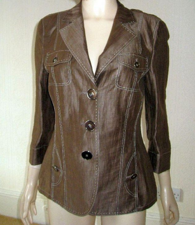 Basler 648513 Taupe Bronze fitted jacket