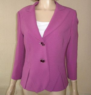 Basler 848123 Dark Lilac Mauve Fitted Jacket