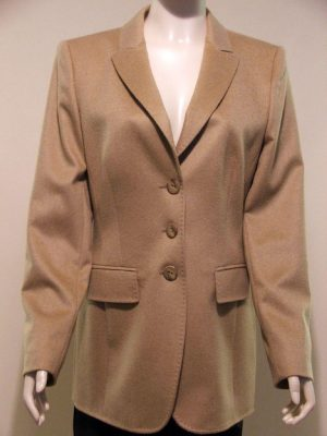 Basler 118552 Camel Long Jacket Stitched Edging.