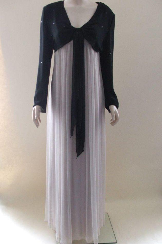 Condici 11143 Taupe and Black Chiffon Evening Dress & Bolero