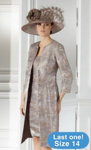 Condici 11215 Nickel Wild Silk Dress & Coat