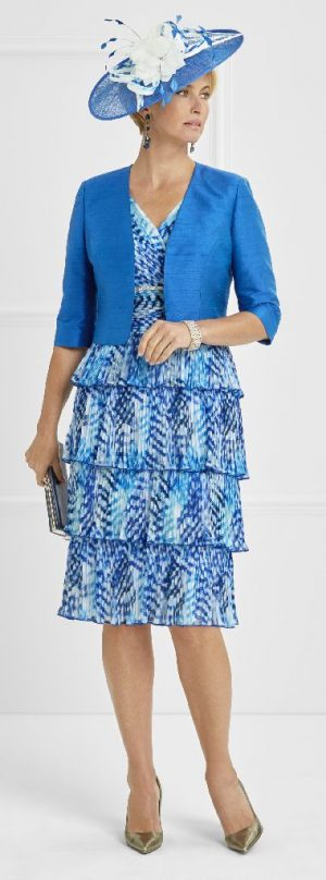 Condici 11340 Cobalt Dress and Jacket
