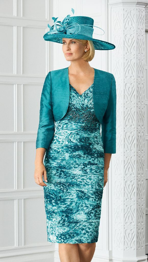 Condici 11370 Chequers Rich Turquoise Dress & Jacket