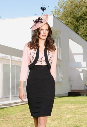 Condici 70780B Bubblegum & Black dress & Jacket