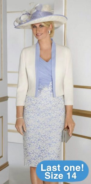 Condici 70869 Heavenly Blue Dress & Jacket