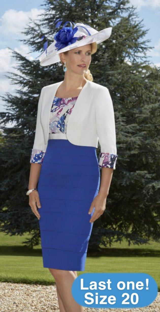 Condici 70874 Picasso Biaritz Blue Dress & Jacket