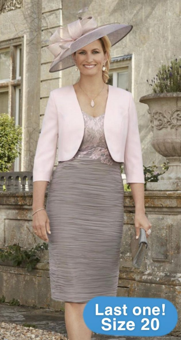 Condici 70879 Rose, Peppercorn Dress & Jacket