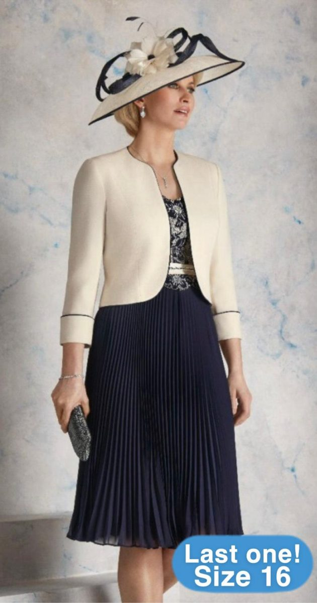 Condici 70911 Praline & Navy Dress & Jacket