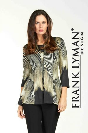 Frank Lyman 64297 Black Olive Long Jacket