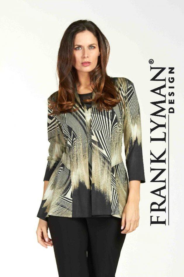 Frank Lyman 64297 Black Olive Long Jacket