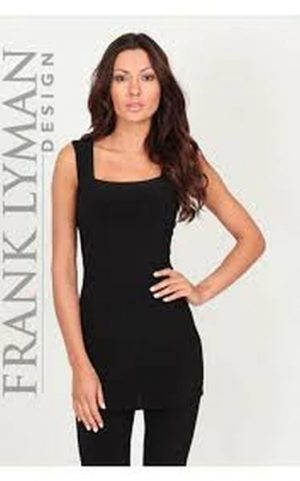 Frank Lyman 030 Black Long Square Neck Camisole