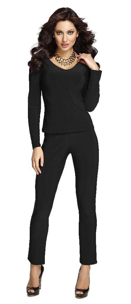Frank Lyman 082 Black Slim Trousers
