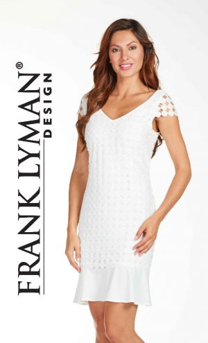 Frank Lyman 171219 Off White Lace Dress