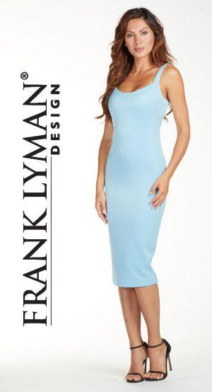 Frank Lyman 171280 Sky Blue Dress With Back Zip