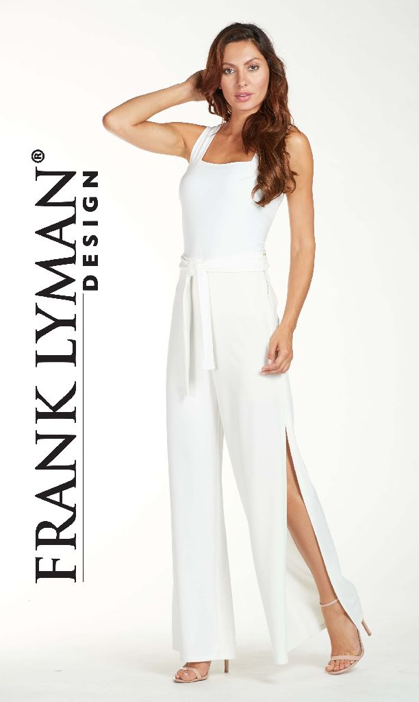 Frank Lyman 171552 Off White Open Sided Trousers