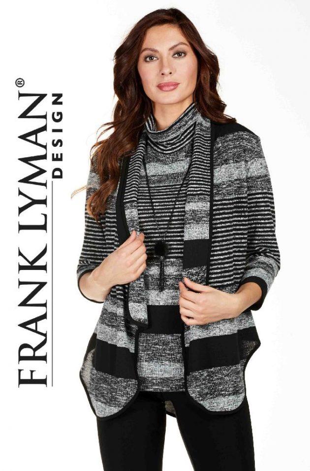 Frank Lyman 174425 Grey, Black, White,Top