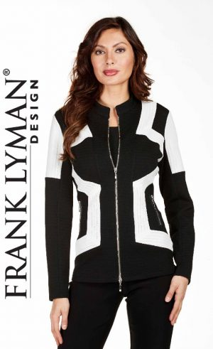 Frank Lyman 174601 Black and White Squares Jacket