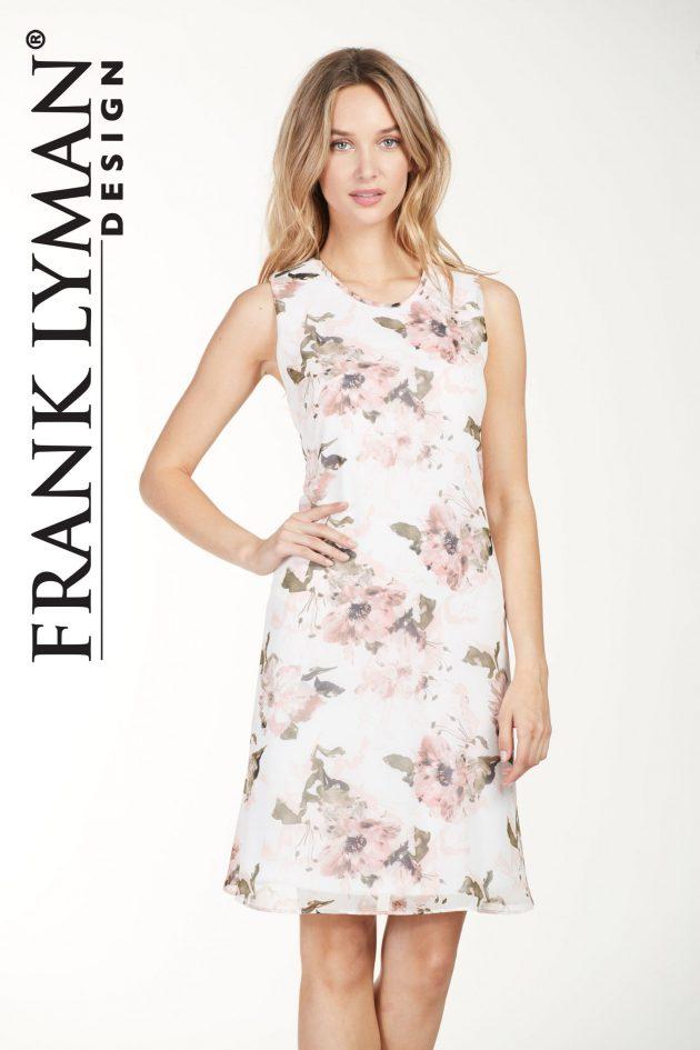 Frank Lyman 176378 Off White, Floral Pattern Dress