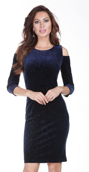 Frank Lyman 179216 Dark Blue Sparkly Dress