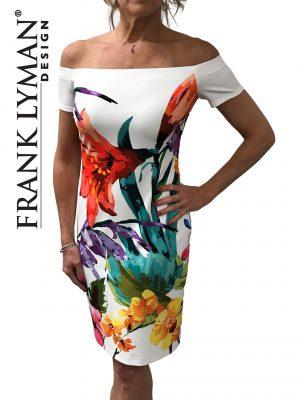 Frank Lyman 181808 Floral Bardot Dress