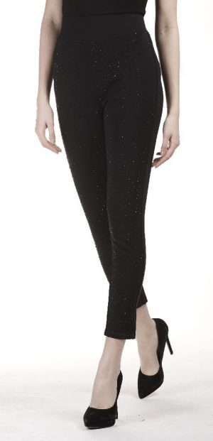 Frank Lyman 183122U Black Diamonté Leggings