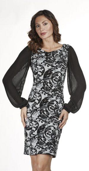 Frank Lyman 183278 Black & Grey Dress