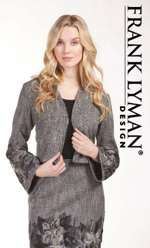 Frank Lyman 183360 Grey Jacket With Applique