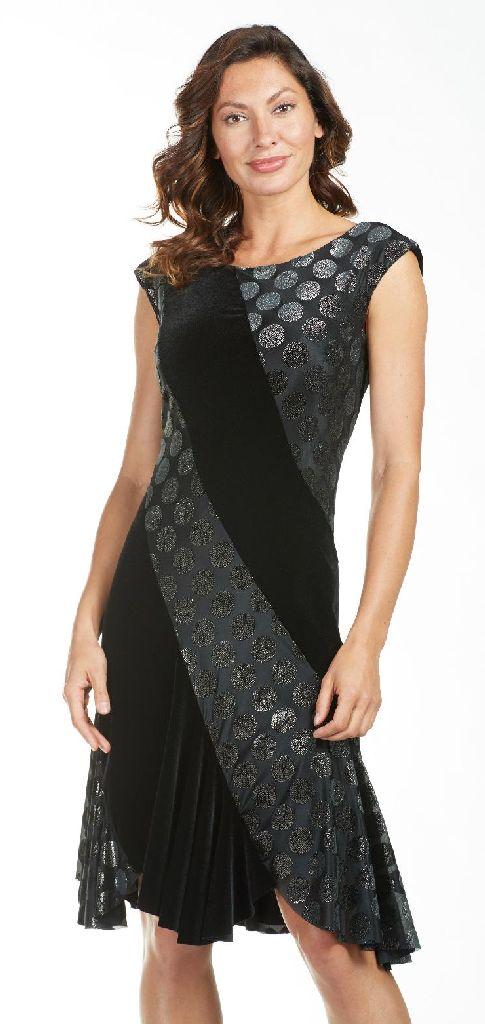 Frank Lyman 185261 Black, Gold Evening Dress