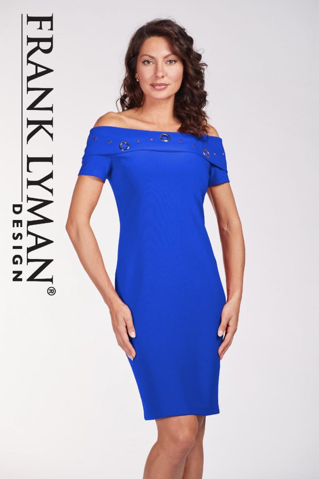 Frank Lyman 186014 Royal Blue Dress