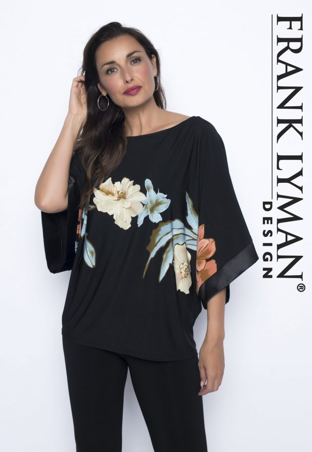 Frank Lyman 186884 Batwing Top, Floral Design