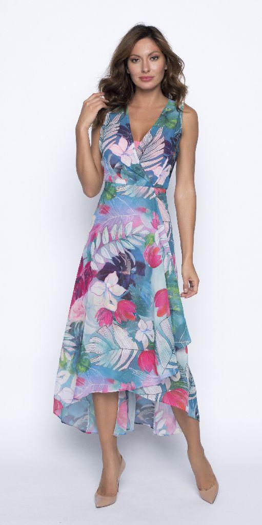 Frank Lyman 191301 Pastels Mid Length Floaty Dress
