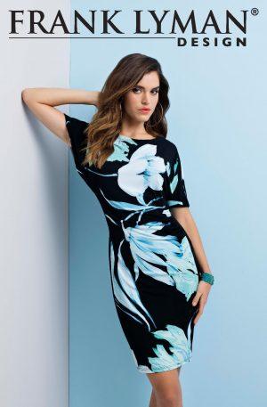 Frank Lyman 191445 Black, Aqua Dress