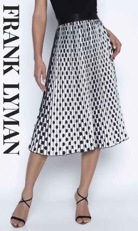 Frank Lyman 196118U Black and White Skirt