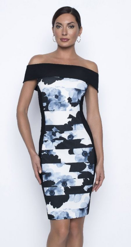 Frank Lyman 196351 Blue Bardot Dress
