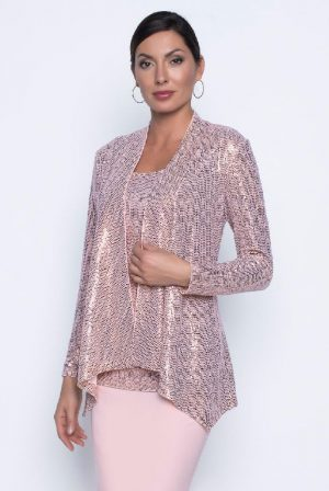 Frank Lyman 196382 Pink Sequin jacket