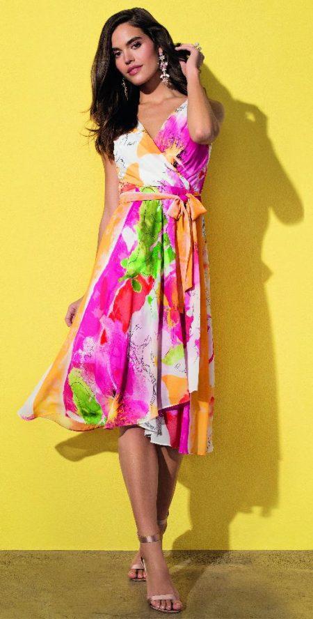Frank Lyman 201232 Pink & Orange Dress