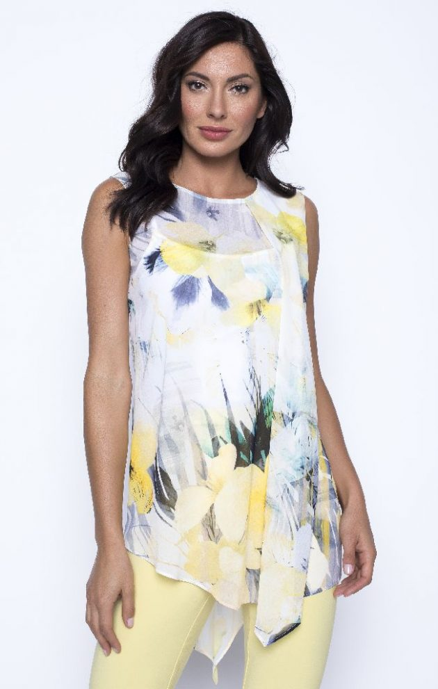 Frank Lyman 201315 Lemon, White Top