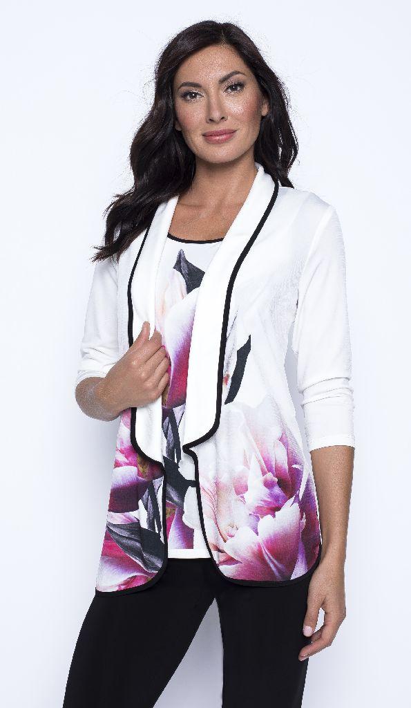 Frank Lyman 201372 White Floral Jacket