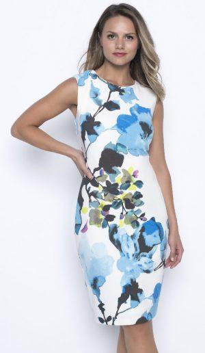 Frank Lyman 201557 Blue, White Dress