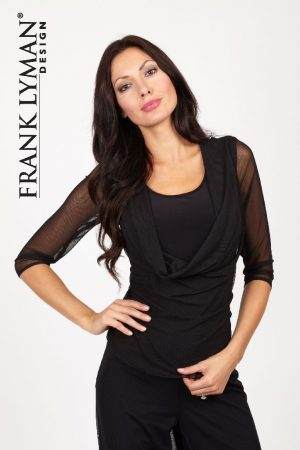Frank Lyman 26433 Black Voile Top