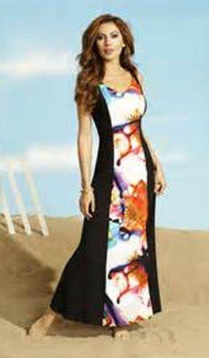 Frank Lyman 56490 Long Floral Panel Dress