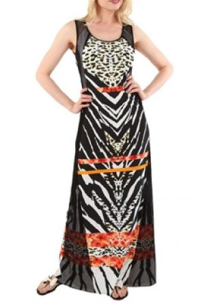 Frank Lyman 61257 Leopardy Long Dress