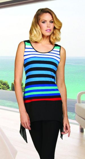 Frank Lyman 62178 Multi striped top