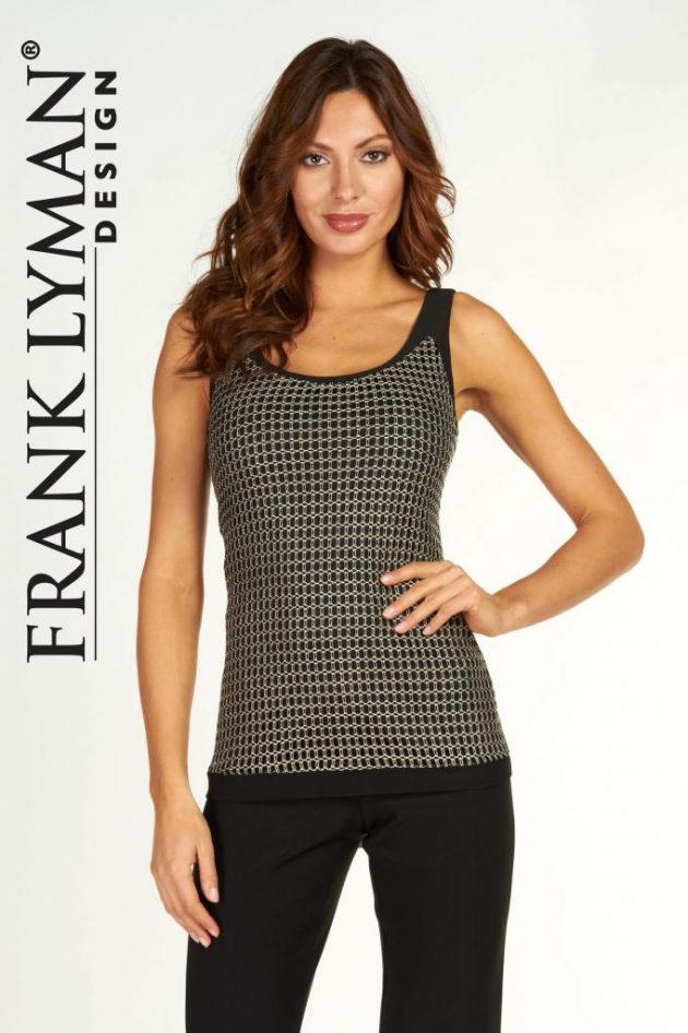 Frank Lyman 63265 Black Gold Mesh Camisole