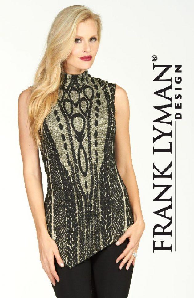 Frank Lyman 64130 Black Gold Evening Top